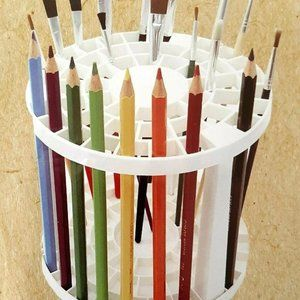 49~holes Paint Brush & Pencils Organizer